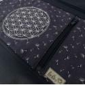 Umhängetasche Blume des Lebens Stickerei - mit Außenfach