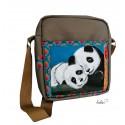 Umhängetasche Panda echte Malereitasche - Unikat