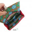Große Malereigeldbörse - Damen Portemonnaie Pusteblume Kaktus