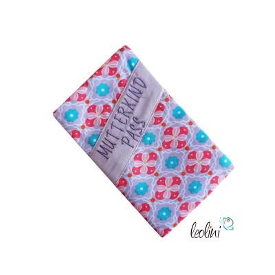 Mutterkindpasshülle mit Stickerei Retro